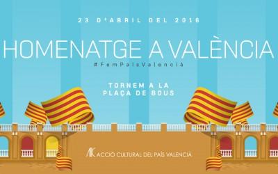 Més d'un miler de valencians ja han comprat l'entrada per a la Festa per la Cultura del 23 d'abril a la plaça de bous de València