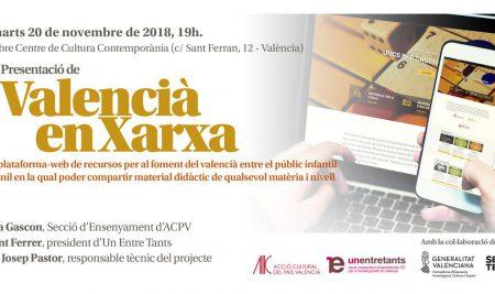 """Presentació de """"Valencià en xarxa"""""""